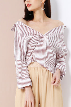 Stripe Top 3289 - ample-couture