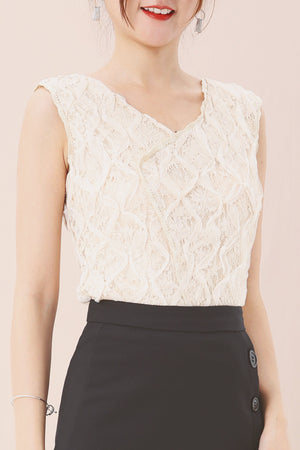 Lace Detail Top 3560 - ample-couture
