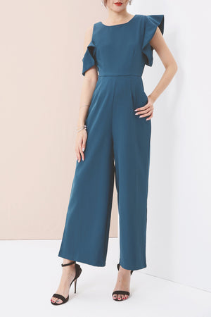 Cold Shoulder Jumpsuit 3578 - ample-couture