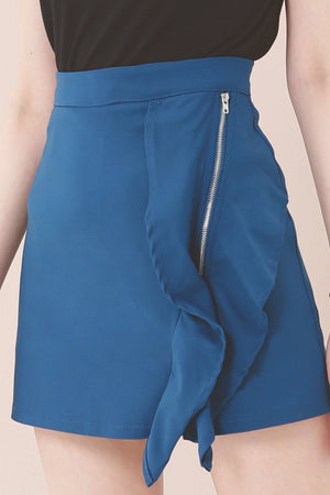 Zipped Skirt Pants 3630 - ample-couture
