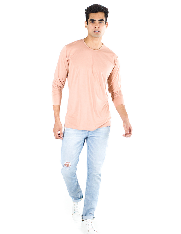 The ESNTLS Salmon Staggered Long Sleeve