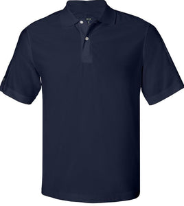 Izod Dri Fit Performance Pique Polos with Texakoma Logo - Navy