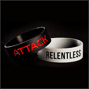 Attack & Relentless Wristbands