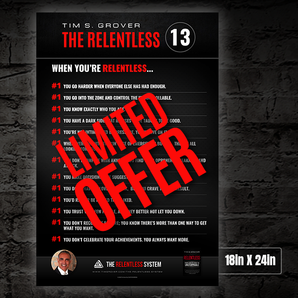 The Relentless 13 Poster