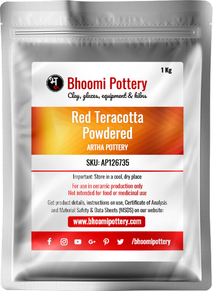 Artha Pottery Red Terracotta Powdered 1 Kg for sale in India - Bhoomi Pottery