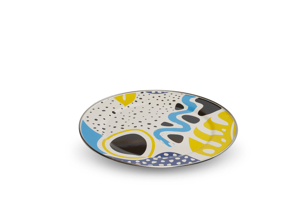 Kapka Flashback Enamel Serving Plate