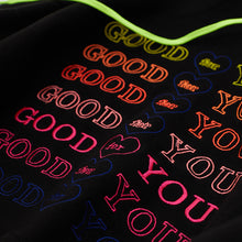 Load image into Gallery viewer, MULTI NEON #GOODFORYOU HEART HOODIE