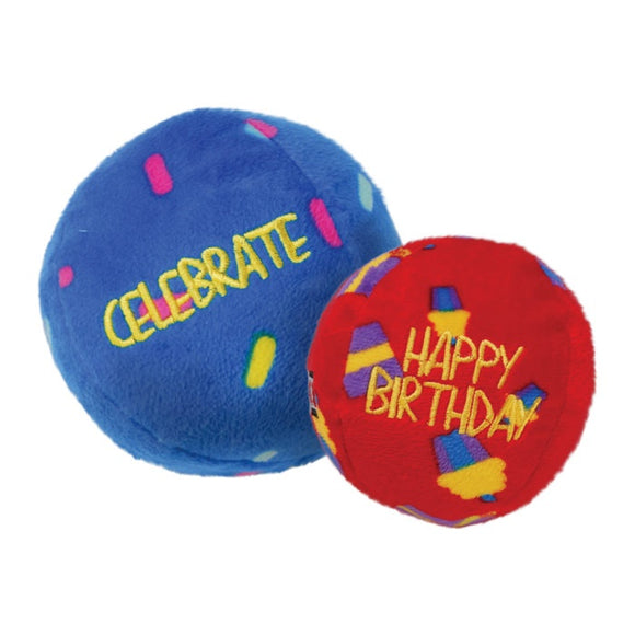 Kong Occasions Birthday Balls Dog Toy - Pepperell Massachusetts - All Breeds All Stages Balls Dog Kong Toys