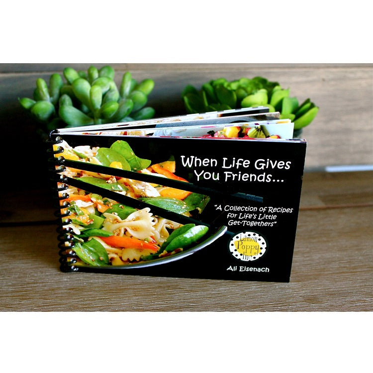Lemon Poppy Recipe Book-When Life Gives You Friends