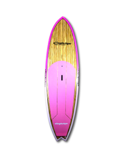 "9'6"" x 31""Timber deck with Pink Fade Performance SUP - Alleydesigns SUP's SURF & SNOW GEAR"
