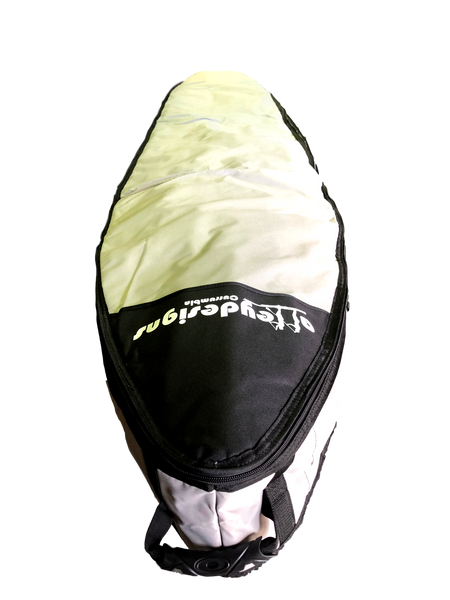 Board Bag 14' Premium Race Board Bag Silver - Alleydesigns SUP's SURF & SNOW GEAR
