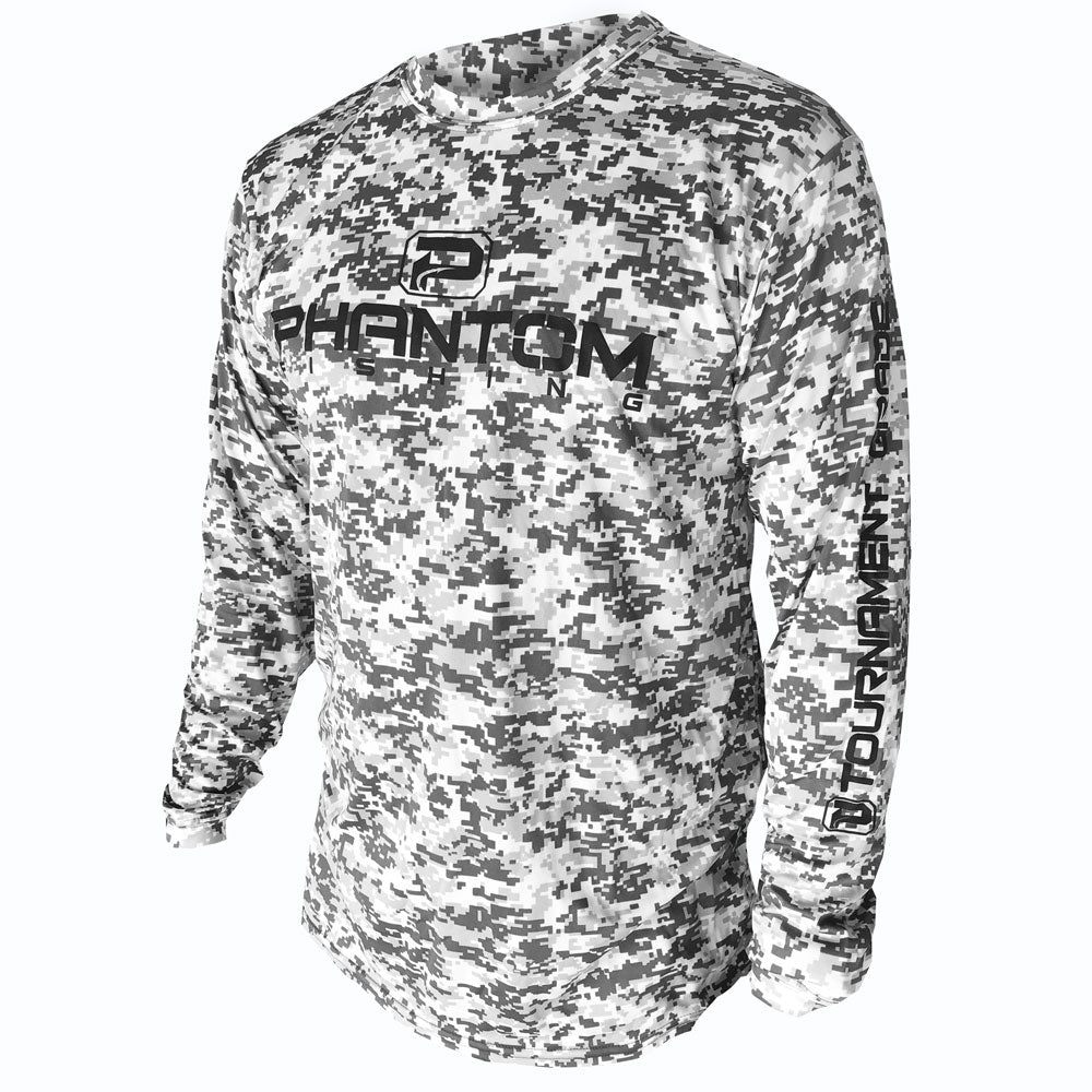 Phantom Fishing™ Performance Long Sleeve LS1 Digital Camo Gray