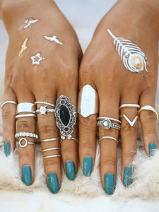 Mixed Shaped Ring Set fashion clothing accessories shoes jewelry