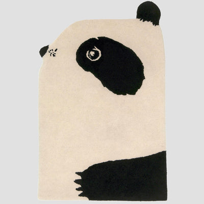 Tapis Panda Elements Optimal Loupilou fait main handmade 100% laine
