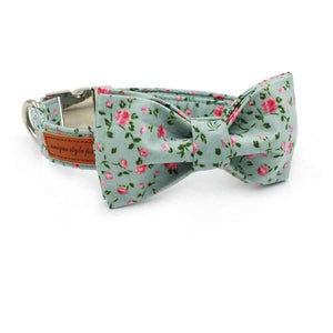 Rubio Rules | Roses Collar with Bow Tie | Dog Supplies