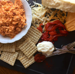 Smoked Gouda + Roasted Red Peppers Pimento Cheese