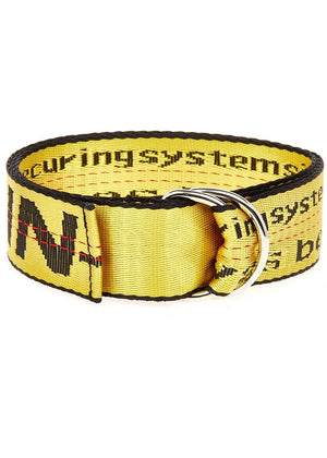 Yellow Tape Belt - Folded