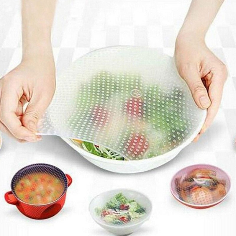 Reusable Silicone Food Wraps (4pcs) + FREE SHIPPING