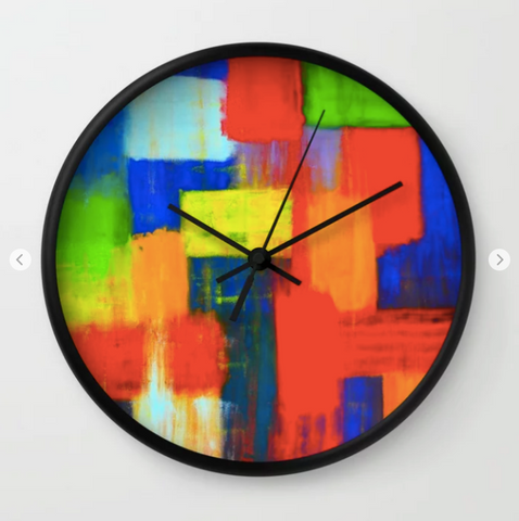 Wall clock - Blokkendoos by Ans Duin