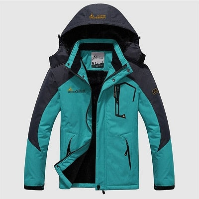 Mens Winter Waterproof Jacket - Moon Blue / L - Fashionmen