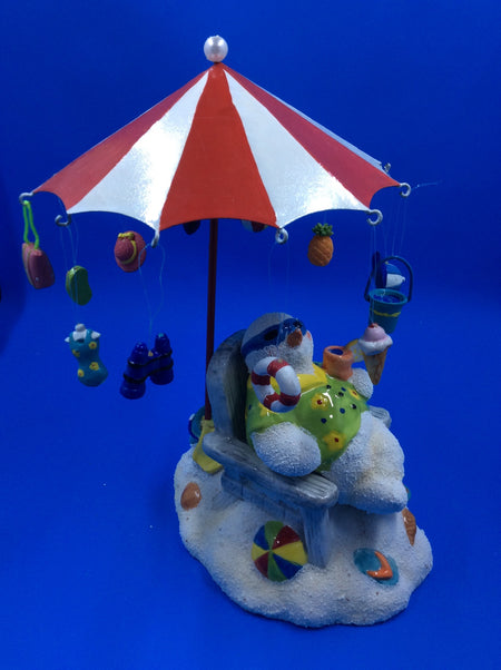 Snowman At the Beach, Chilling Out - HartFelt Keepsakes