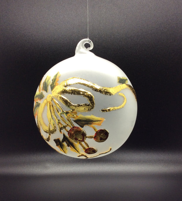 Frosted Glass Ball Ornament
