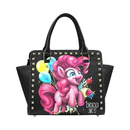 Pinkie Pie Undead Inc Premium PU Leather Stud Detail Shoulder / Hand Bag