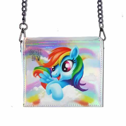 Rainbow Dash Undead Inc Shoulder Bag With Removable Chain