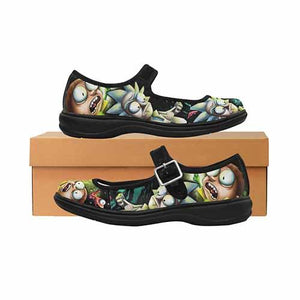 Morty Space Worms Women's Mary Jane Shoes