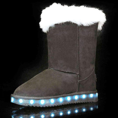 Flashez LED Footwear - Flash Wear LED Black Calf Boots