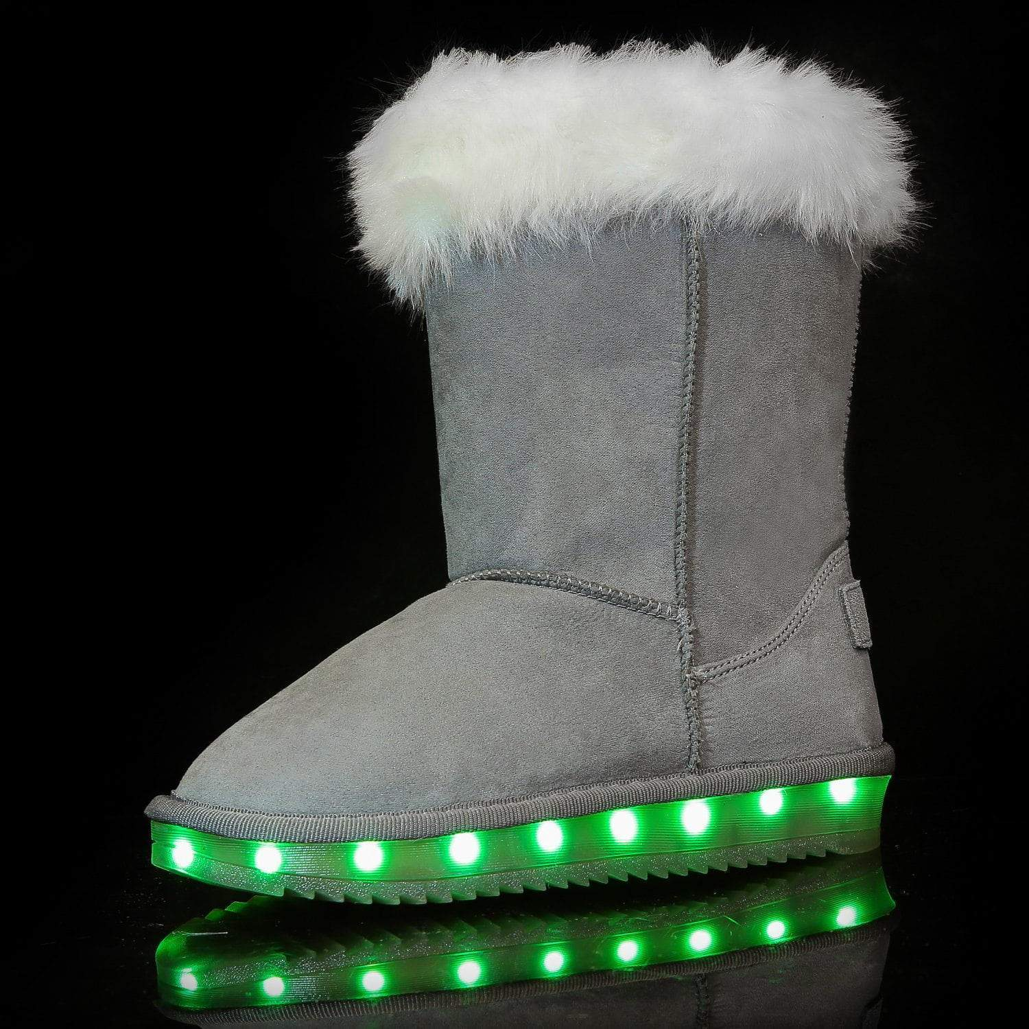 Flashez LED Footwear - Flash Wear LED Grey Calf Boots