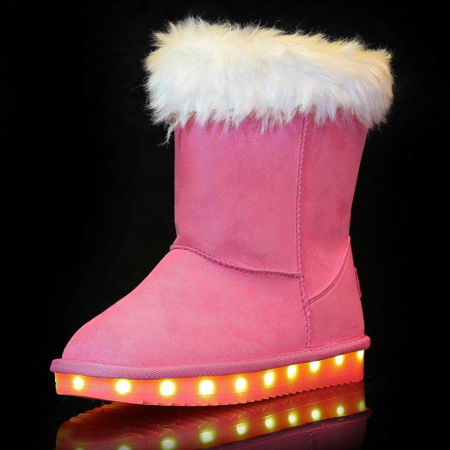 Flashez LED Footwear - Flash Wear LED Pink Calf Boots