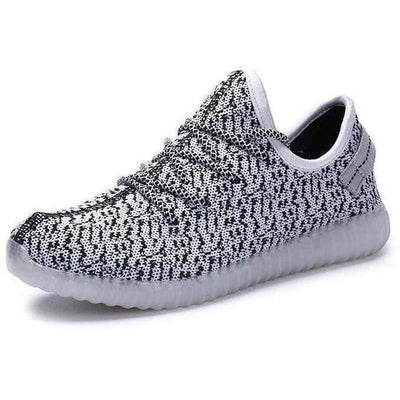 Flashez LED Footwear - Flashez Grey - L.E Deezy Shoes