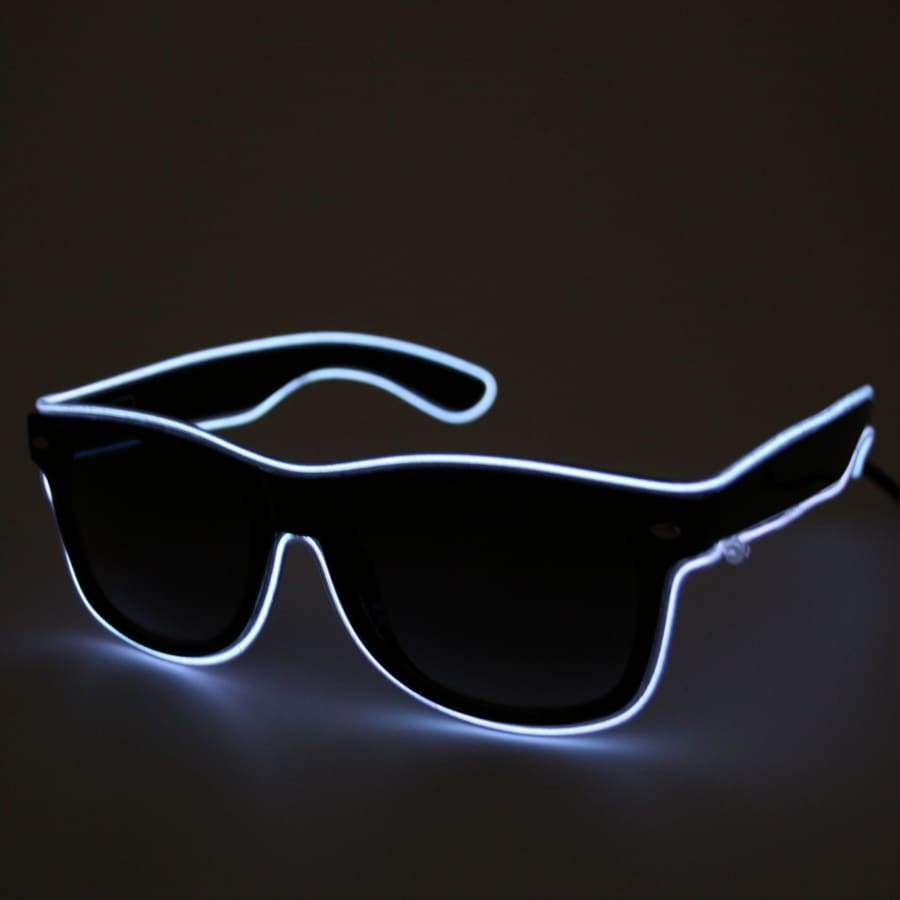 Light up LED Glasses - White