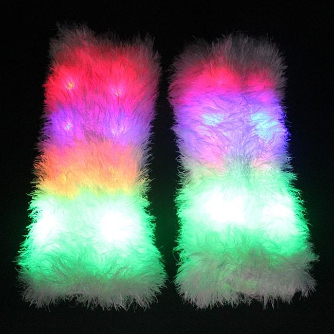 Light up Furry Leg Warmers