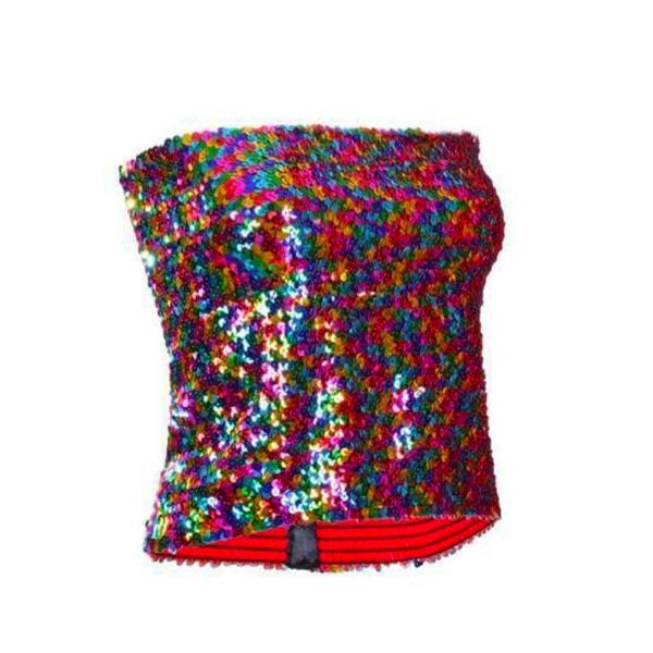 Sequin - Multicolour Sequin Strapless Top