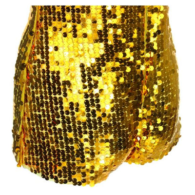 Sequin Playsuits - Gold Sequin Playsuit