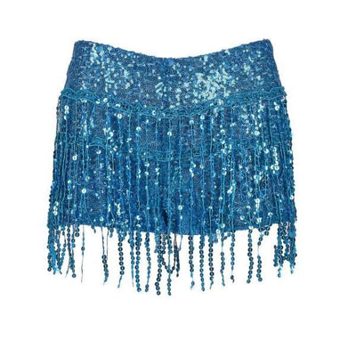 Sequin Shorts - Blue Sequin Shorts