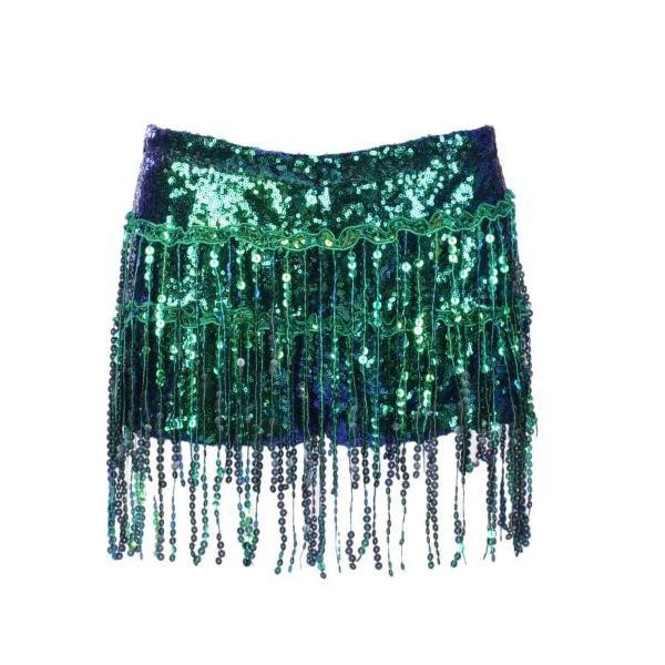 Sequin Shorts - Green Sequin Shorts