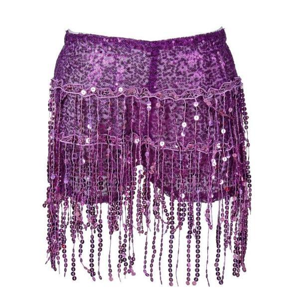 Sequin Shorts - Purple Sequin Shorts