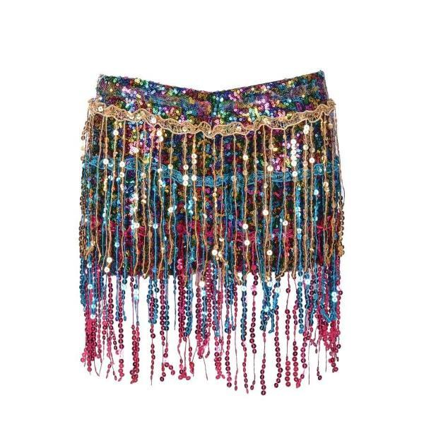 Sequin Shorts - Rainbow Sequin Shorts