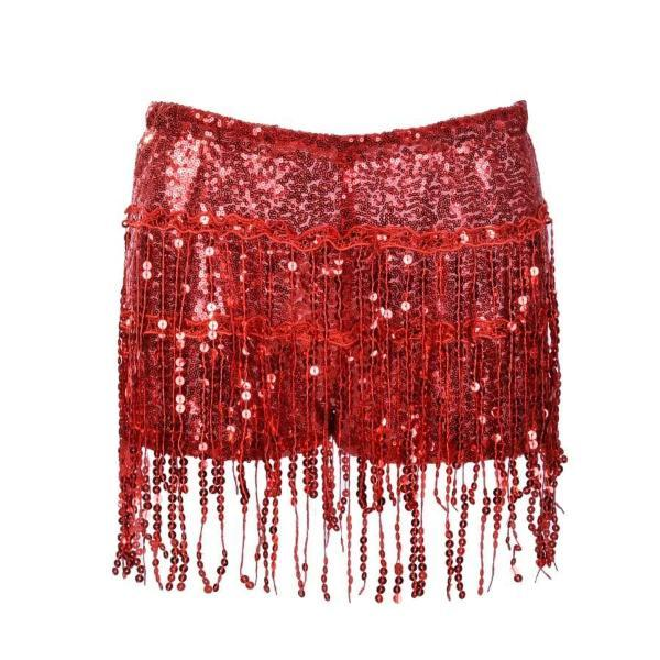 Sequin Shorts - Red Sequin Shorts