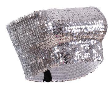 Sequin - Silver Boob Tube Sequin Strapless Top
