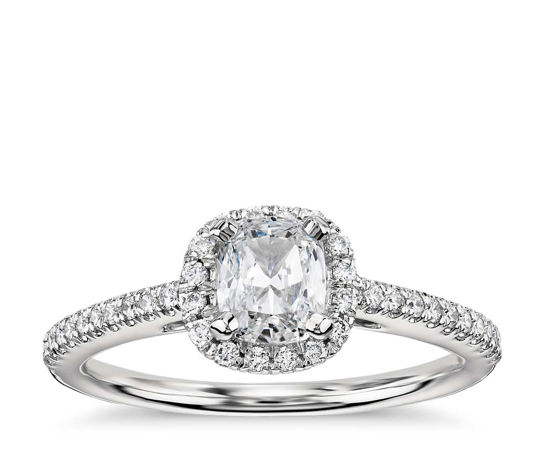 Engagement Ring - Halo Cushion Cut