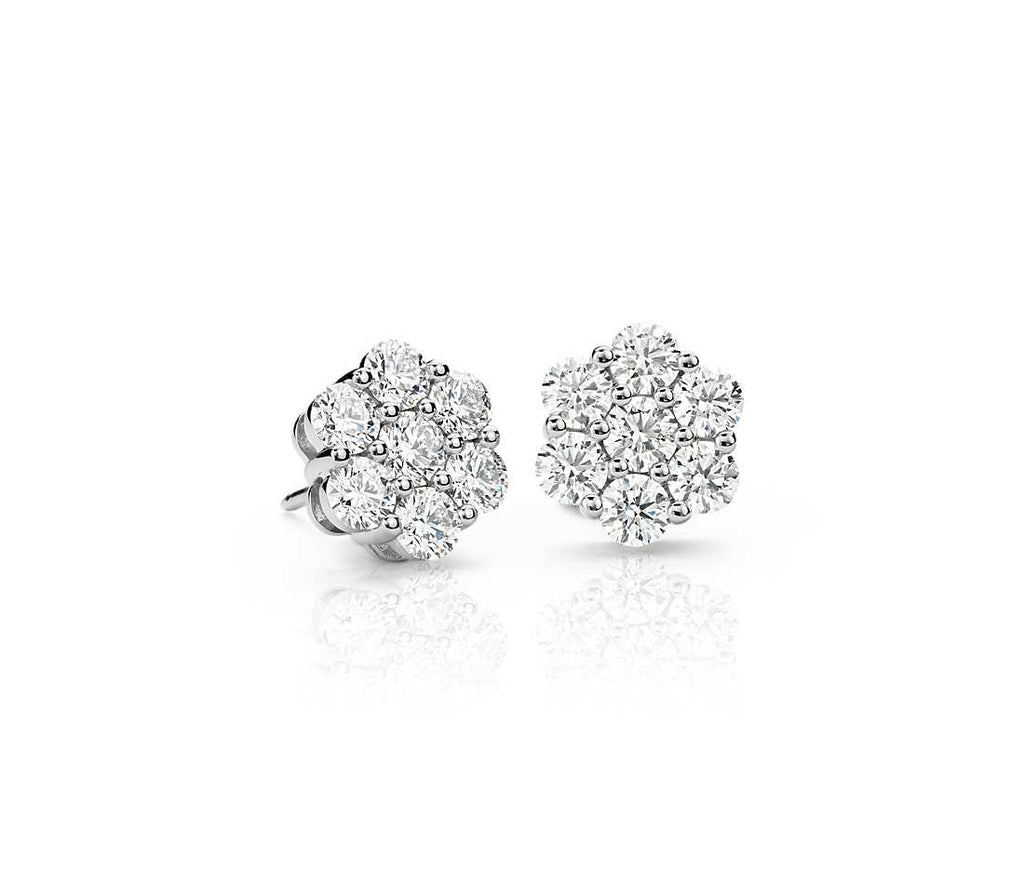 Diamond Stud - Floral (2.20 ct tw)