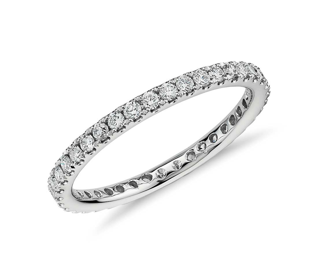 Eternity Band - Riviera Pave 14k White Gold (1/2 ct tw)