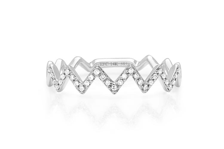 Diamond Zig Zag Ring