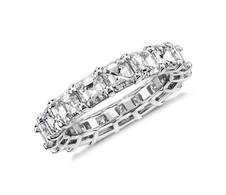 Eternity Band - Asscher Cut Diamond (5 ct tw)