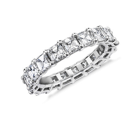 Eternity Band - Asscher Cut Diamond (4 ct tw)