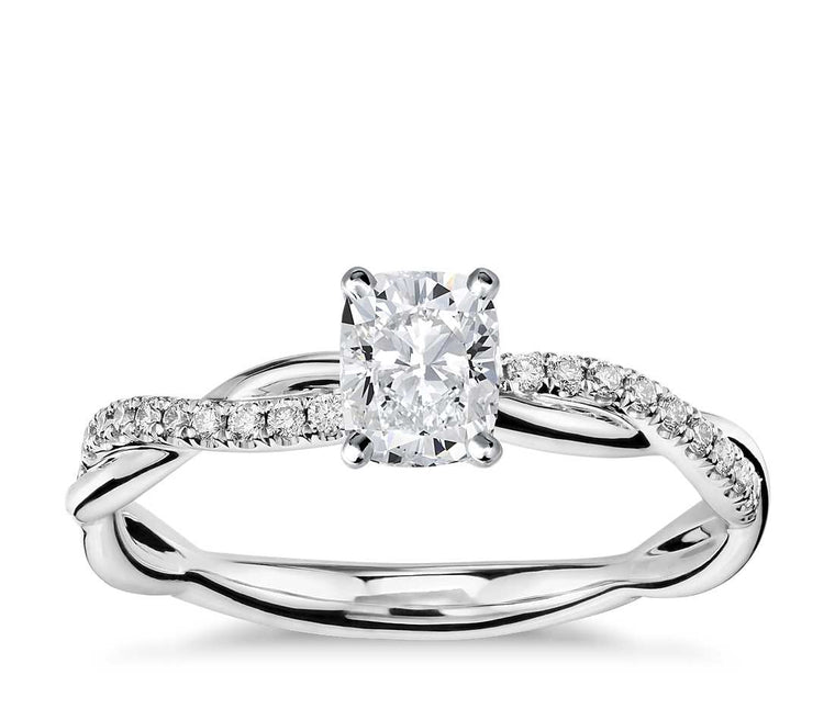 Engagement Ring - Vintage Cushion Cut